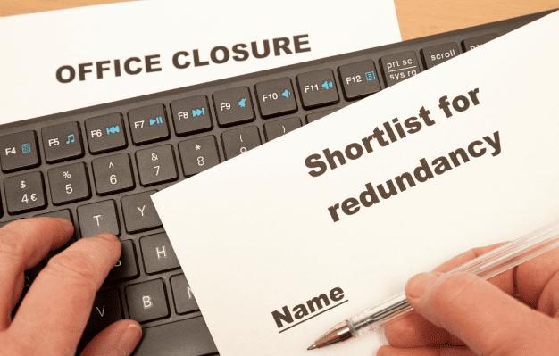 Person entering to computer Redundancy shortlist